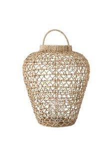 Bloomingville Lantern - natural - Ø56xH66 - Water hyacinth - Bloomingville