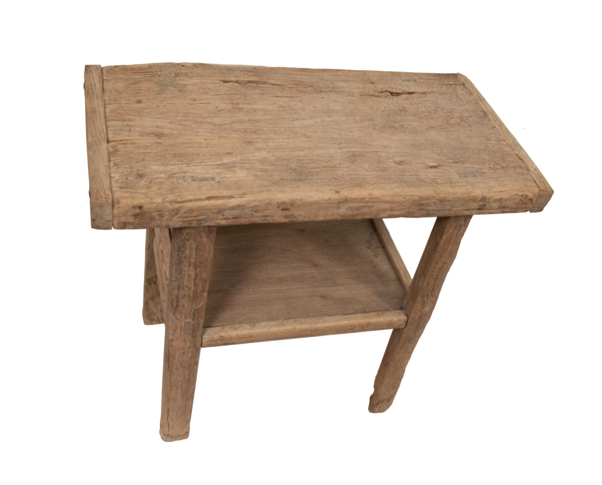 Consola de madera cruda - 101x48xh90cm - Madera de Olmo