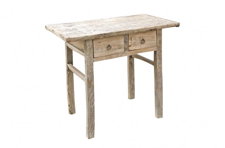 Snowdrops Copenhagen Table console avec tiroir - Bois brut - 95x53xh82cm - pièce unique