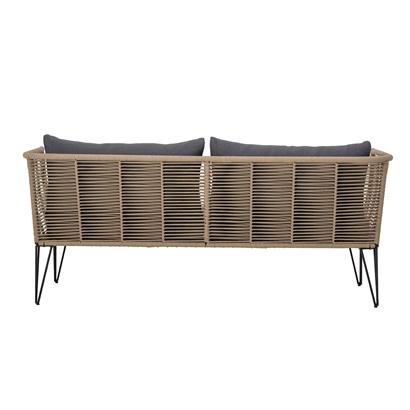 Bloomingville Outdoor sofa - natural / dark grey - L175xH72xW74cm - Bloomingville