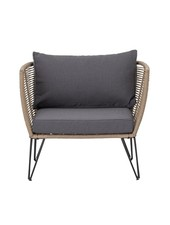Bloomingville Outdoor lounge chair - dark grey / natural - Bloomingville