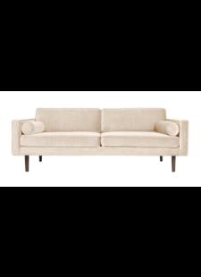 Broste Copenhagen Retro sofa Wind - velvet - creme - 3 seater - 88X200Xh74cm - Broste Copenhagen