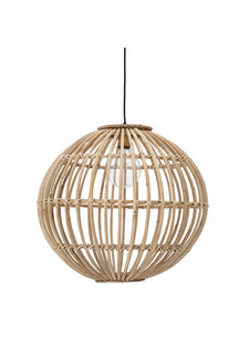 Bloomingville Pendant lamp - Cane - natural - Ø60xH55cm - Bloomingville