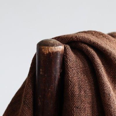 Tell me more Colcha algodón de lino / Manta - Canela / marron - 130x170cm - Tell Me More