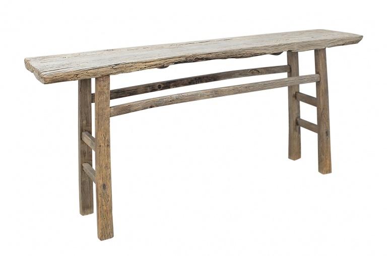 Petite Lily Interiors Table console vintage en Bois d'orme - Piece Unique - 188x39xh87cm