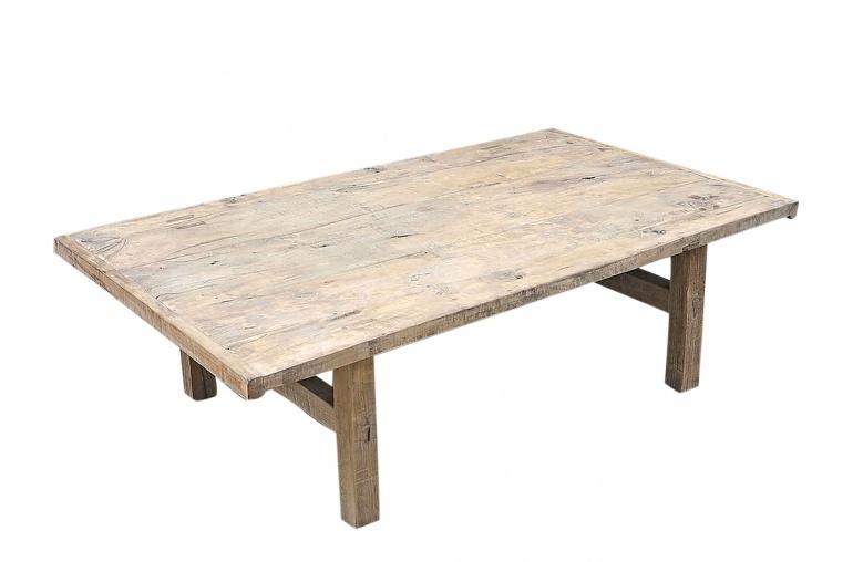 Petite Lily Interiors Mesa de salon de madera cruda -138x83xh42cm - nuez