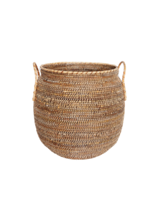 House Doctor Basket Azeema in rattan - Ø53xH64cm - natural - House Doctor