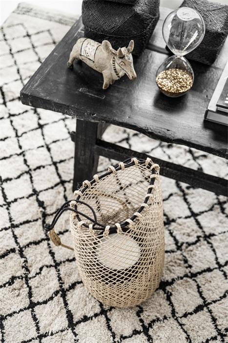 Petite Lily Interiors Borneo Fishermans bag / Lantern - 20xh40cm