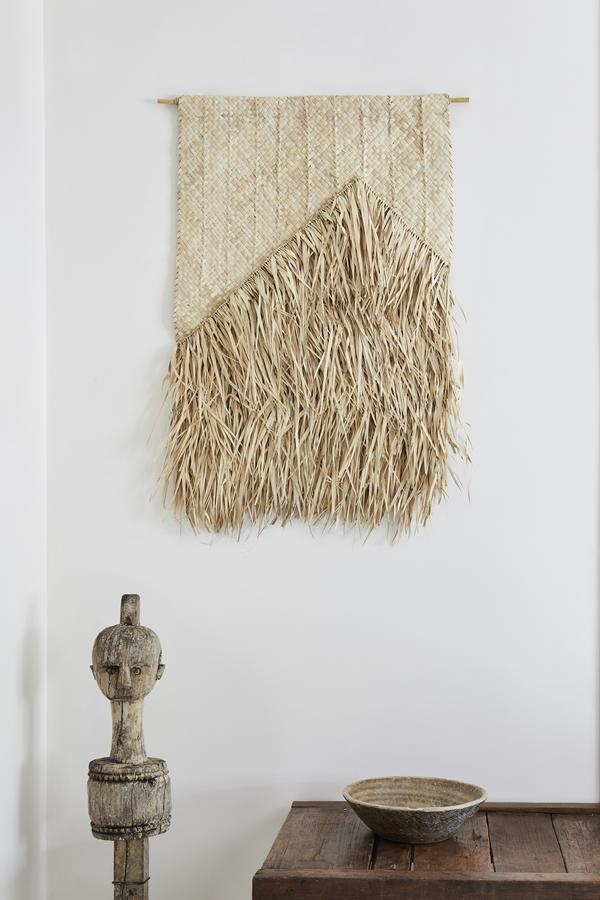 the dharma door  Amua Wall Hanging - palm leaves - Natural - 65xh95cm - The dharma door