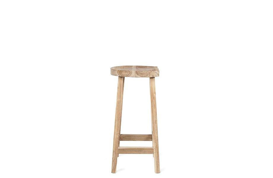 Dareels Bar stool - teak - 44x38xh79cm - Dareels
