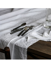 Tell me more Table cloth 100% stonewashed linen - 160x270  - white - Tell Me More