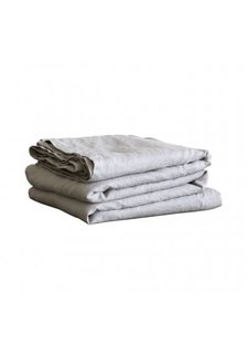 Tell me more Nappe rectangulaire - 100% lin lavé  - 160x330cm - gris clair - Tell Me More