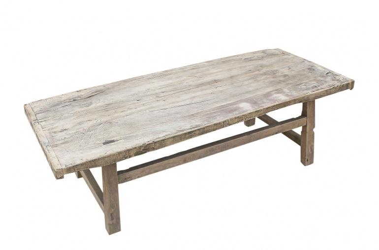 Petite Lily Interiors Table basse vintage / bois brut - 140x58xh42cm - noyer brut