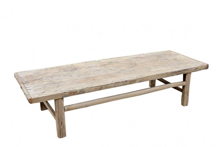 Raw wood coffee table -182x64xh43cm - Elm Wood