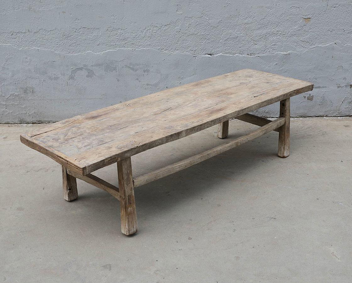 Coffee table lounge - raw wood - 160x50xh40cm - Unique item