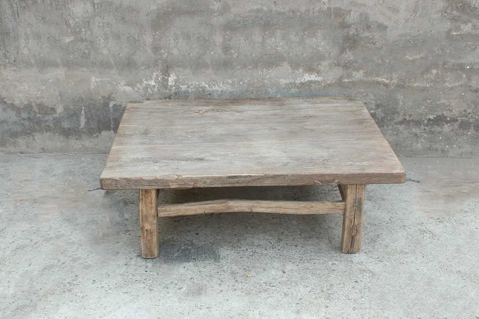 Petite Lily Interiors Coffee table lounge - raw wood - 81x60xh29cm - Unique item