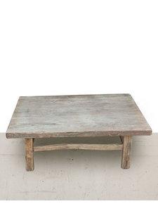 Petite Lily Interiors Table basse vintage / bois orme brut - 81x60xh29cm - Piece Unique