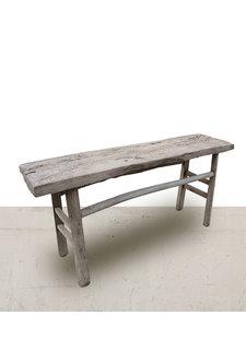 Petite Lily Interiors Console Table Vintage - Bois brut - Orme de Noyer - 161x42x78cm