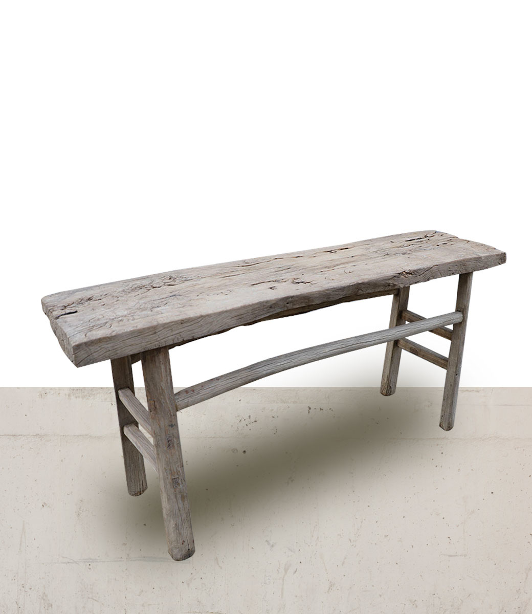 Petite Lily Interiors Console table vintage - 161x42x78cm - Walnut and Elm Wood