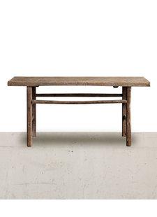 Petite Lily Interiors Table console vintage en Bois d'orme - 170x43xh81cm