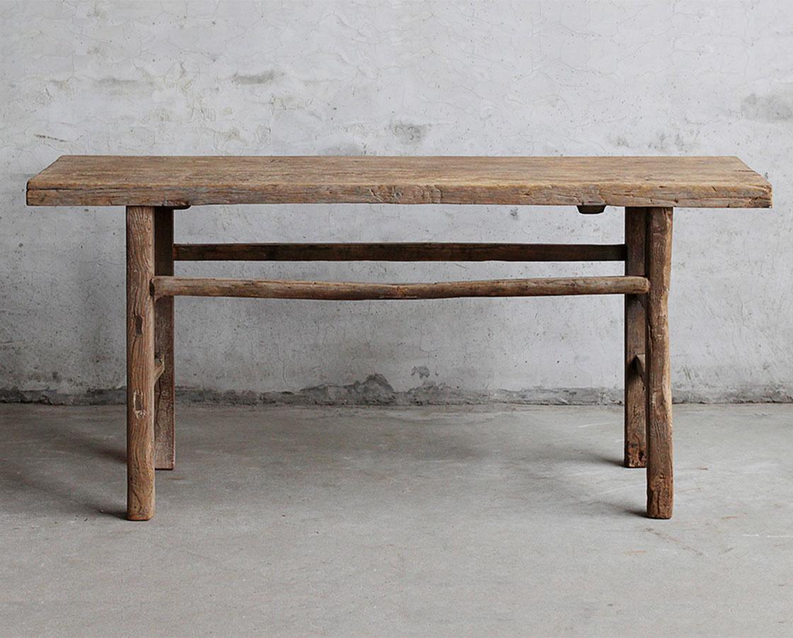 Petite Lily Interiors Console table Vintage - 170x43xh81cm - unique product - elm wood