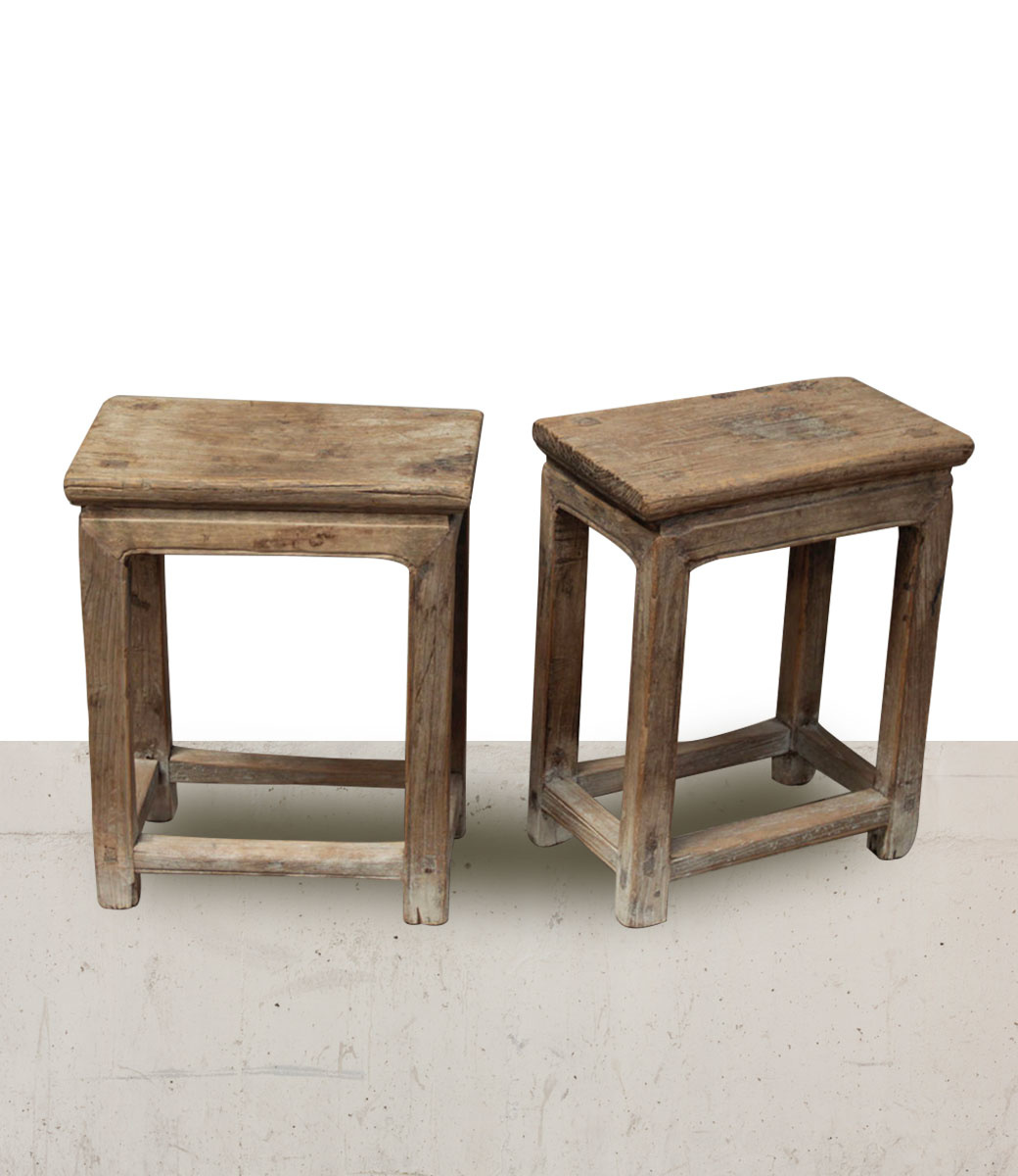 Petite Lily Interiors Raw wood side table - elm wood - 41x24xh50cm - unique item