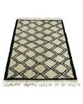 Snowdrops Copenhagen Berber style rug 'ZIKZAK' - creme & black - 140x200cm