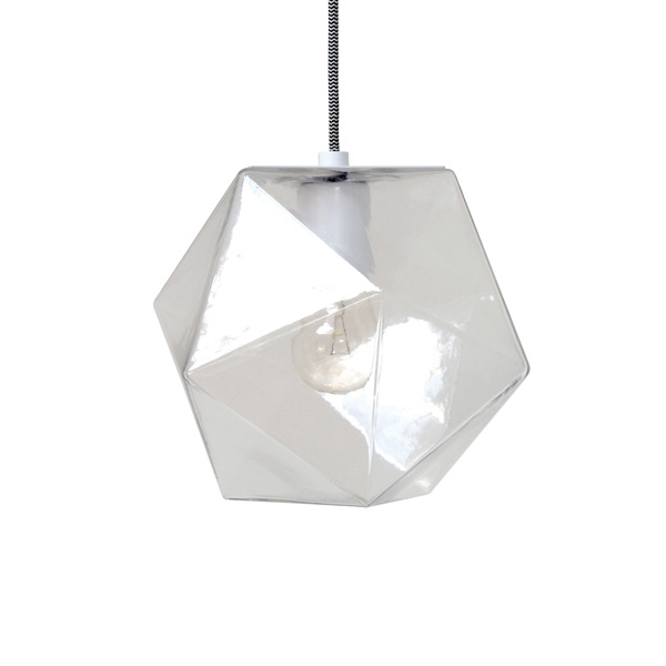 HK Living Hanging Lamp Geometric Diamond in Glass - 24 cm - HK Living