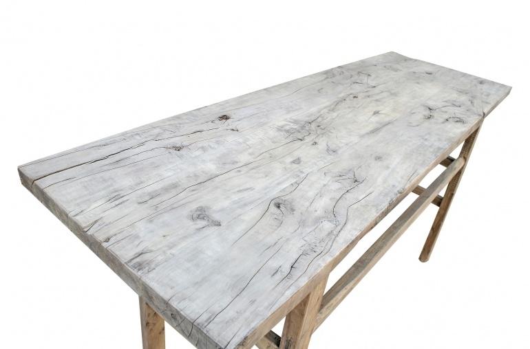 Petite Lily Interiors Table console vintage en Bois d'orme - 185x59xh89cm - Piece Unique