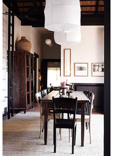 Dark and dramatic wabisabi home decor styling - spotted at sfgirlbybay.com