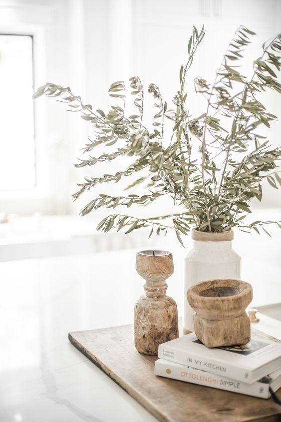 Petite Lily Interiors Bougeoir indien en bois - Piece Unique