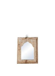 Petite Lily Interiors Miroir indien en bois - W20xD3xH24cm - Piece Unique