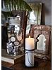 Petite Lily Interiors Wooden mirror India - W20xD3xH24cm - Unique Item