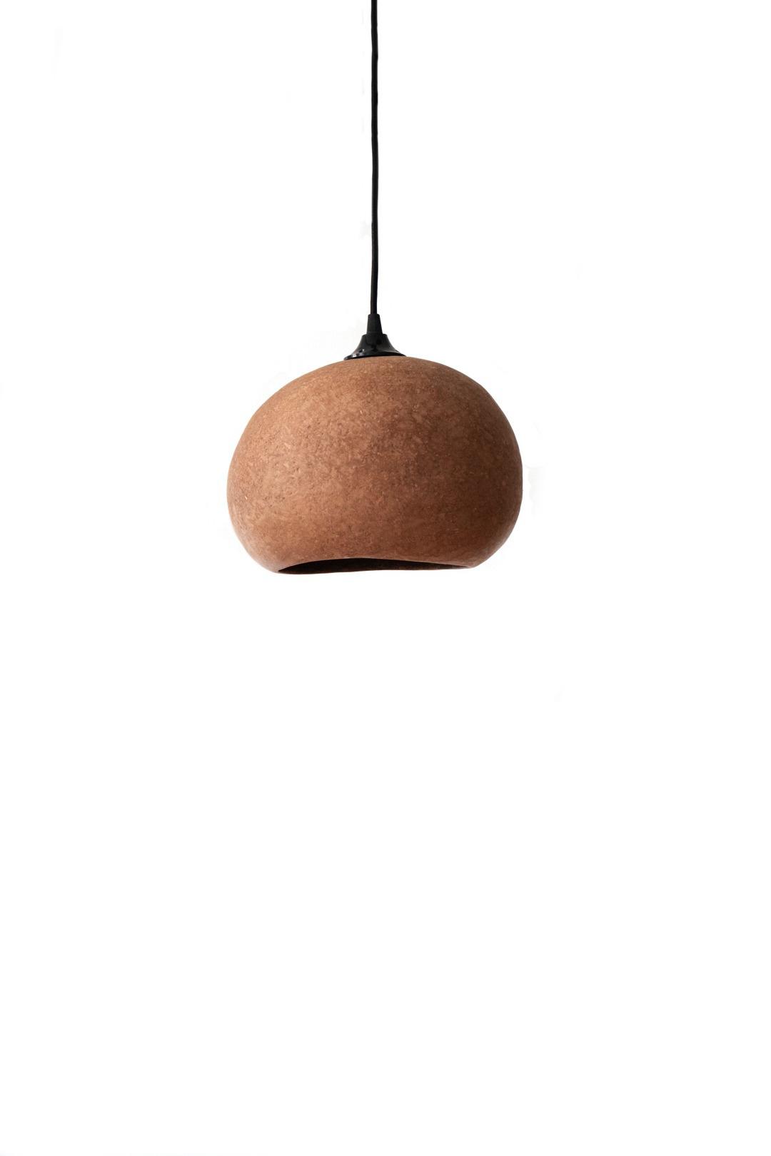 Ay Illuminate Lampe Suspension en Terracotta S - carton recyclé - 27x21x17cm - Ay illuminate