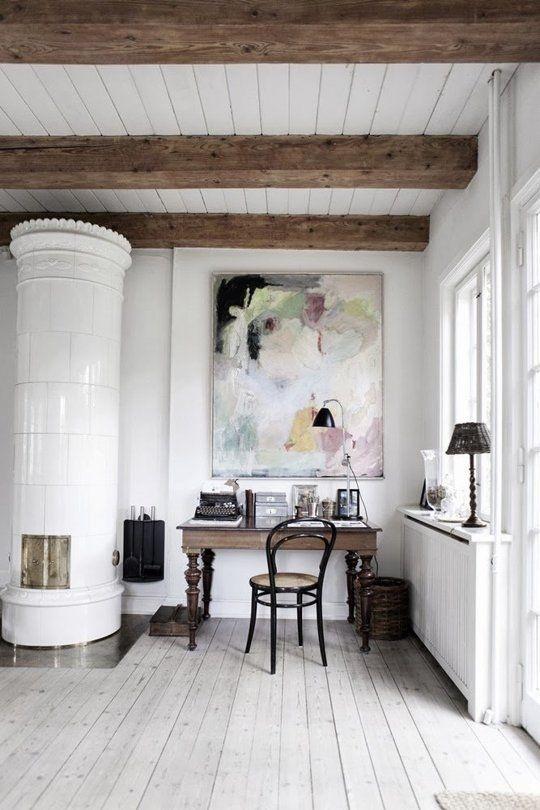 Snowdrops Copenhagen Bureau vintage avec tiroirs vintage - Bois - 95x54xh76cm - pièce unique