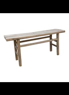Petite Lily Interiors Table console vintage - Bois brut - 183x44x82 - Piece Unique