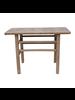 Petite Lily Interiors Table console vintage - Bois brut - 118x53x85cm - Piece Unique