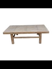 Petite Lily Interiors Table basse Vintage - bois brut - 154x87x48 - Piece Unique