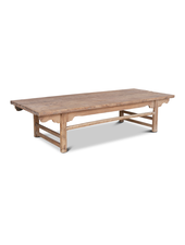 Petite Lily Interiors Raw wood coffee table - 190x77x45cm - Unique Item