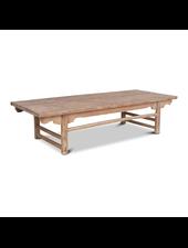 Petite Lily Interiors Table basse Vintage - bois brut - 190x77x45cm - Piece Unique