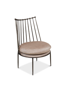 Petite Lily Interiors Chair - metal and gold - 62x56x85cm