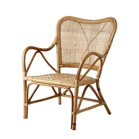 Affari of Sweden Rattan chair RIVIERA - Natural - L62xW74xH86 cm - Affari of Sweden