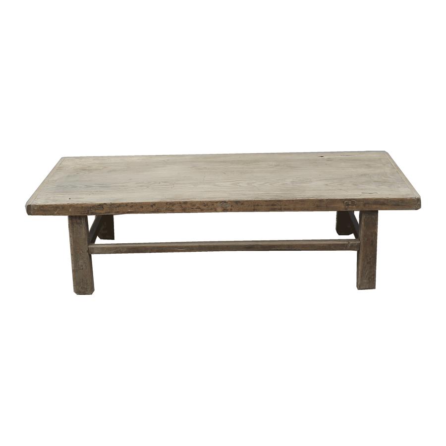 Petite Lily Interiors Raw wood coffee table - 145x57xh38cm - Elm Wood