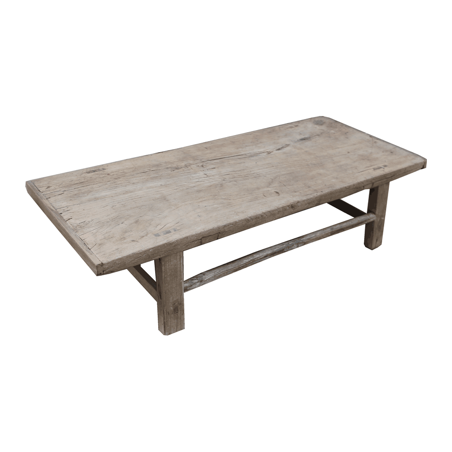 Petite Lily Interiors Raw wood coffee table - 143x62xh35cm - Elm Wood