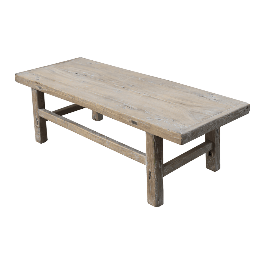 Petite Lily Interiors Raw wood coffee table - 126x48xh40cm - Elm Wood