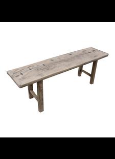 Petite Lily Interiors Raw wood coffee table / bench - 148x38xh50cm - Elm Wood