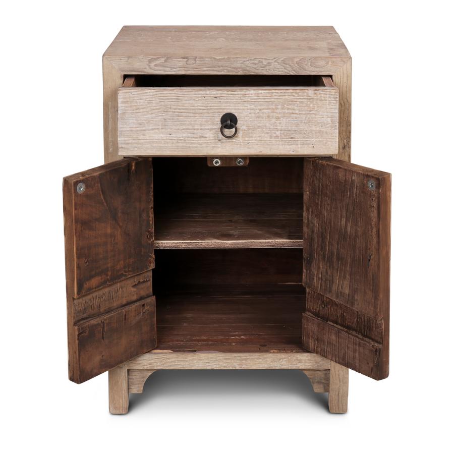 Petite Lily Interiors Chevet vintage en bois brut - 50x40x76cm - piece unique
