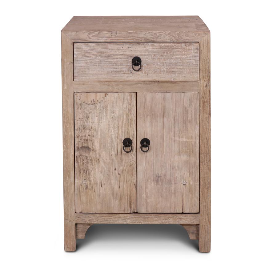 Petite Lily Interiors Vintage side table - raw wood - 50x40x76cm - unique item