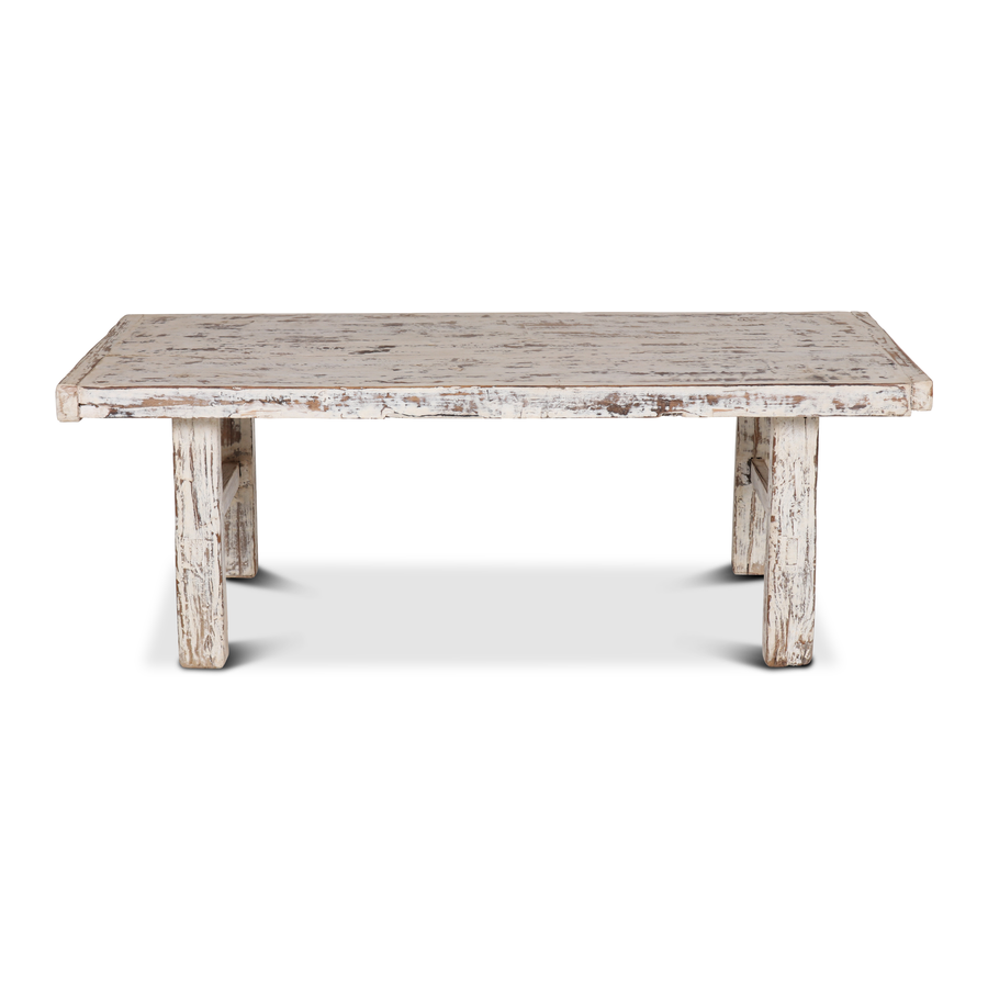 Petite Lily Interiors Table basse bois brut - blanc - 119x55xh43cm