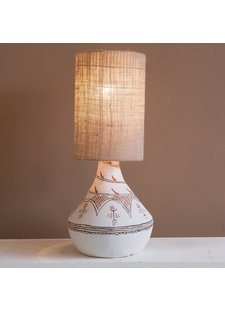 Petite Lily Interiors Table Lamp Tribal Linen - ceramic / linen - Ø26x59cm